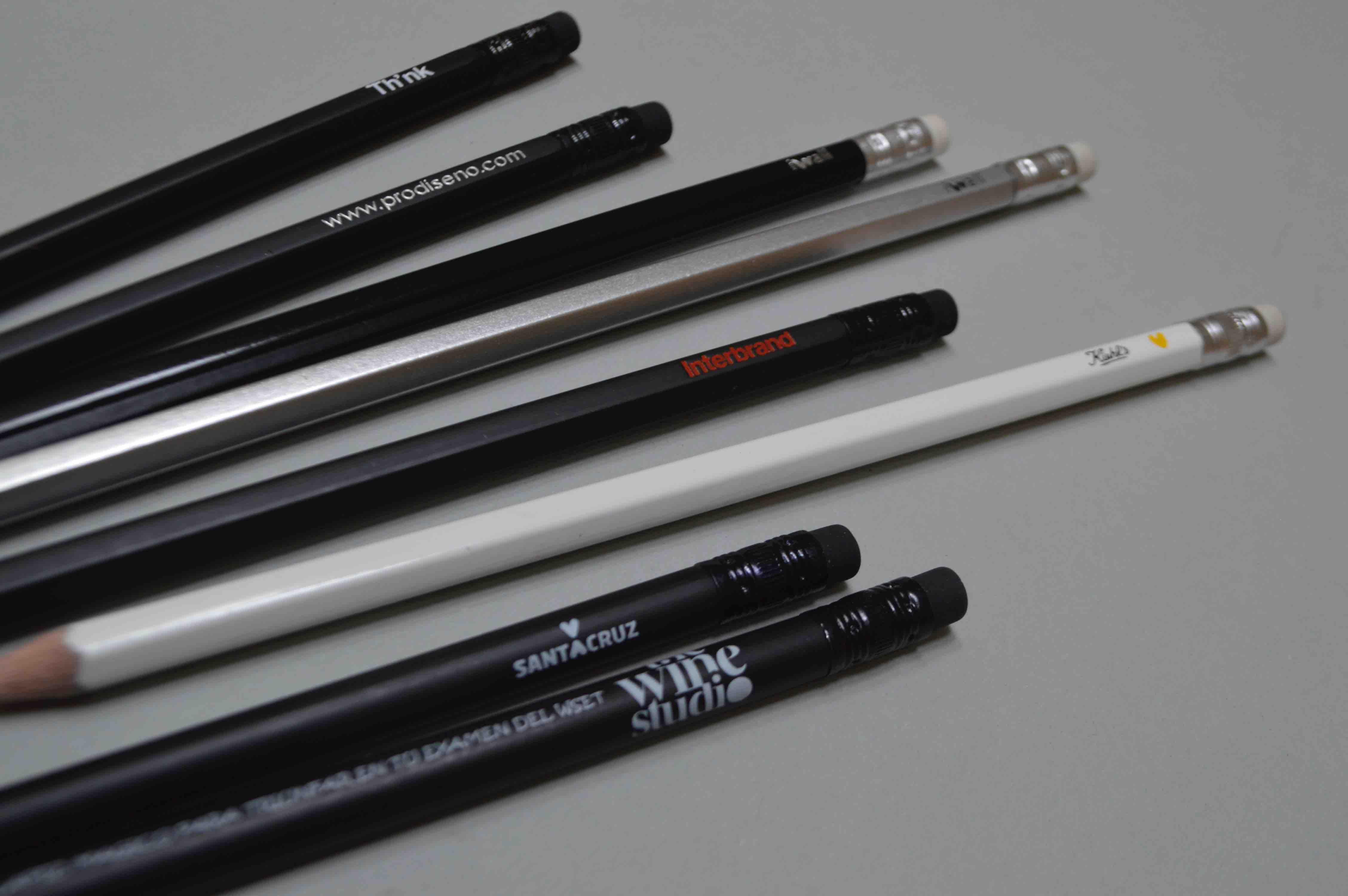 Lápices black con logo impreso
