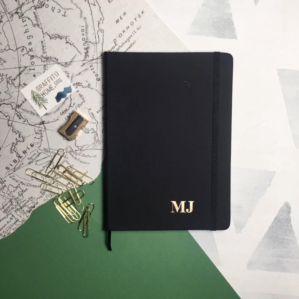 Cuaderno personalizado Soft negro.
