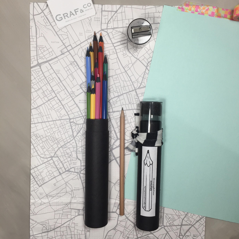 ·PROMOCIÓN· Tubo de lápices de colores personalizados negros