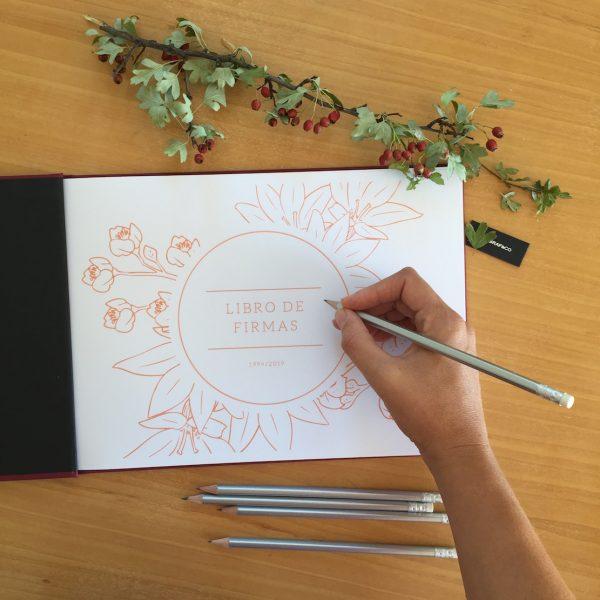 libro firmas personalizado