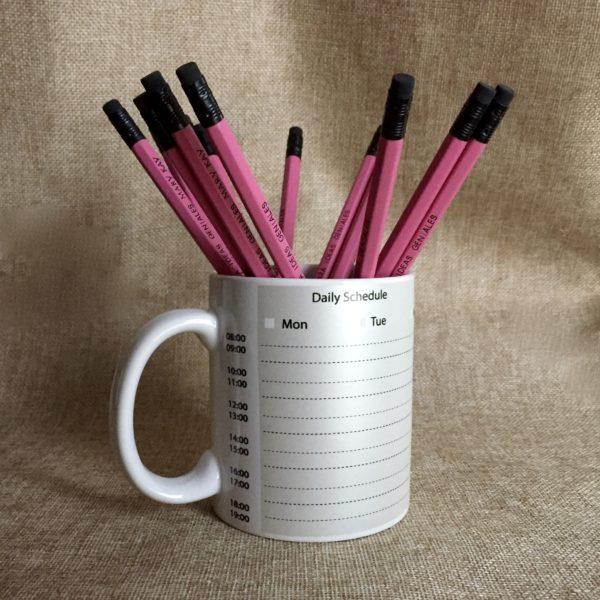 taza de lápices personalizados